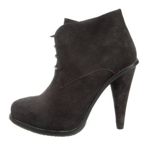Opening Ceremony Suede Round Toe Ankle Booties